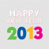 Felice nuovo anno 2013 con stile punto — Foto Stock