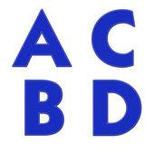 Alphabet with stitch design on fabric elements  — Stockfoto