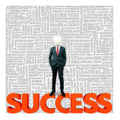 Business word cloud for business and finance concept, Success — Stock Photo