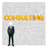 Nuvem de palavra de negócios para as empresas e o conceito de finanças, serviço de consultoria — Foto Stock