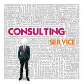 Облако слов бизнес для бизнеса и понятие финансов, консалтинговые услуги — Стоковое фото