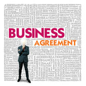 Business word cloud for business and finance concept, Business contract — Stock Photo