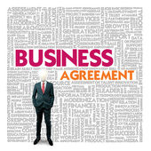 Business word cloud for business and finance concept, Business contract — Foto Stock