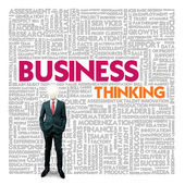 Business word cloud for business and finance concept, Business thinking — Foto de Stock