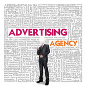Business word cloud for business and finance concept, advertising agency — Stock Photo