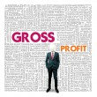 Stock Photo: Business word cloud for business and finance concept, Gross Profit