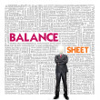 Business word cloud for business and finance concept, Balance sheet — Stock Photo