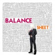 Business word cloud for business and finance concept, Balance sheet — Stock Photo #42134181
