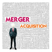 Business word cloud for business and finance concept, Merger — Stock Photo