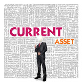 Business word cloud for business and finance concept, Current asset — Foto de Stock