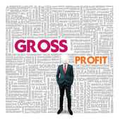 Business word cloud for business and finance concept, Gross Profit — ストック写真