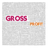 Zakelijke woord wolk voor business en financiën concept, bruto winst — Stockfoto