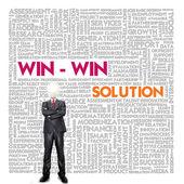 Nuvem de palavra de negócios para as empresas e o conceito de finanças, gestão de conflitos — Foto Stock