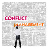 Business word cloud for business and finance concept, Conflict Management — Stock Photo