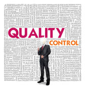 Business word cloud for business and finance concept, Quality Control — Stock Photo