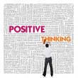 Stock Photo: Word cloud for business and finance concept, Positive Thinking