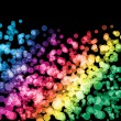 Rainbow light on black background — Stock Photo #42164339