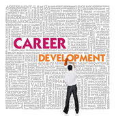Word cloud for business and finance concept, Career Development — Stock Photo
