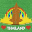 Thailand travel concept withi stitch style on fabric background — Stock Photo #42262249