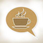 Café con estilo de la puntada en fondo de tela — Foto de Stock