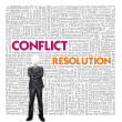 Stock Photo: Business word cloud for business and finance concept, Conflict M