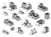 Set factory — Stock Vector