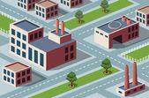 Industrial district — Stock Vector