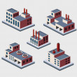 Isometric buildings — 图库矢量图片