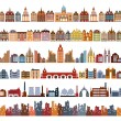 Stock Vector: Variants of houses