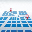 Royalty-Free Stock Imagen vectorial: Blue map