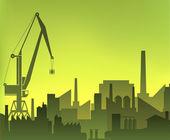Industrial city — Stock Vector