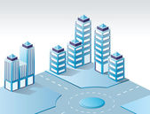 Urbano isométrica — Vector de stock