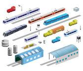 Spoorwegmaterieel — Stockvector