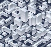 Isometric vector city — Stock Vector