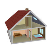 Rural home — Stock Vector