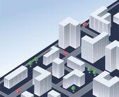 Isometrische stad — Stockvector