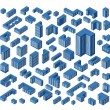 Isometric buildings — Stock Vector #28442141