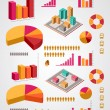 Vector set of infographics elements  — Imagen vectorial