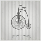 Old bicycle — Stock Vector