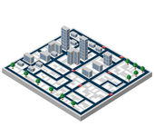 Isometric buildings — Wektor stockowy