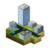 Isometric buildings — Stok Vektör