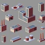 Industrial buildings — Stock Vector #35106489