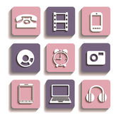 Icons of different — Stock Vector