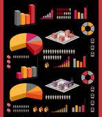 Izometryczne zestaw — Wektor stockowy