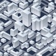 Isometric   city — Stock Photo