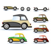 Colored cars — Stock Photo