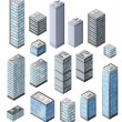 Set of 3D city — Stock Photo