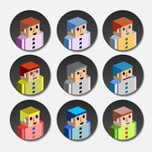 People avatar — Vector de stock