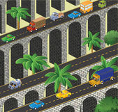 Isometric road — Foto Stock