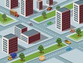 Isometric city image — Stock Photo